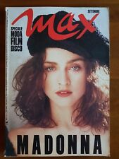 MADONNA COMPLETE MAGAZINE MAX 1989 ITALY POSTER ATTACHED LIKE A PRAYER ERA