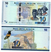 Bolivie BOLIVIA Billet 10 BOLIVIANOS 2018 OISEAU NEW NOUVEAU UNC NEUF