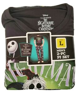Nightmare Before Christmas Classic Fit Briefly Stated Men's 2 Piece Pajama Set