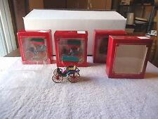 "Vintage "" NOS "" Lot Of 4 Hallmark Keepsake Ornaments 1987 "" SWEETHEART "" GREAT C"