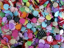 200 Assorted Polka Dots Apple Applique/satin fabric/felt/craft/trim/sewing H393