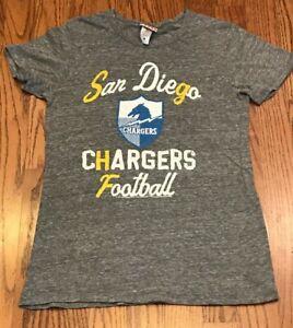 NFL Women's San Diego Los Angeles Chargers Football Junk Food Gray Tshirt Medium
