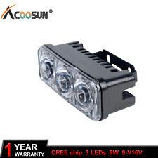 2pcs 3LED DRL Car Light Fog Driving Daylight Daytime Running LED Head Lamp White
