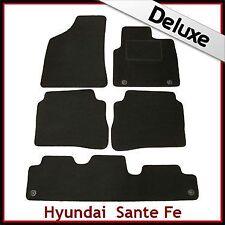 Hyundai Santa Fe Mk2 2006-2009 7 PLAZAS ALFOMBRILLAS ALFOMBRA A MEDIDA de lujo 1300g Negro