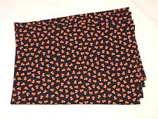 Halloween Holiday Orange White Black Candy Corn Polka Dot Set of 4 Placemats
