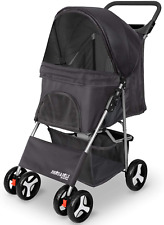 Paws & Pals 4 Wheeler Elite Jogger Pet Stroller Cat/Dog Easy to Walk And Fold