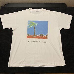 Vintage Armadillo Run Art T Shirt Oldsmar FL Single Stitch USA Made Men's XL