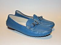RALPH LAUREN Collection DACITA Blue Leather Loafers Moccasins Women's US 6.5 B