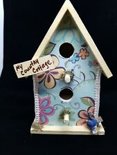 "Bird House Decorative Wooden ""My Country Cottage"" Country/Garden Decor - New"