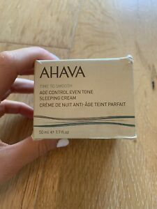 AHAVA TIME TO SMOOTH AGE CONTROL EVEN TONE SLEEPING CREAM. NEW. FREE SHIPPING