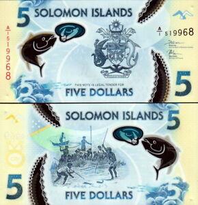 Salomon Îles - Solomon Islands 5 Dollars 2019 Polymer Fds UNC