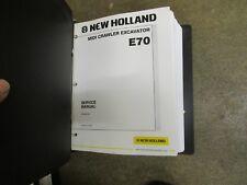 New Holland E70 E 70 crawler excavator service & repair manual