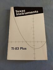 Manual Texas Instruments Ti-83 Plus Guide Instructions Book 1999