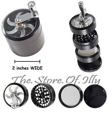 4 Piece 3 Inch Black Tobacco Herb Grinder Spice Herbal Zinc Alloy Smoke Crusher