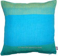 "16"" Cushion Cover Pillow Toss Sofa Cotton Handloom Weaving Throw Indian Decor"