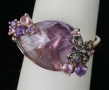 Le Vian 14k Strawberry Gold Cotton Candy Amethyst Chocolate & Vanilla Ring