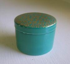Rosenthal Germany Porcelain Trinket Box Teal w/ Flowers