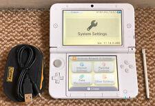 * Nintendo 3DS XL * Blanco Consola De Mano Con Cable Cargador USB Stylus &