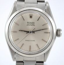ROLEX VINTAGE OYSTER SPEEDKING PRECISION REF 6430 CALIBER 1225 STEEL WATCH