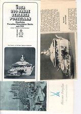 Prozellan-Manufraktur - diverse Prospekte Konvolut - siehe Bild - B3670