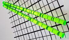 "2 Pcs 1/2"" x 12"" Clear Green Fluorescent Acrylic Plexiglass Rod .5 Inch Diameter"