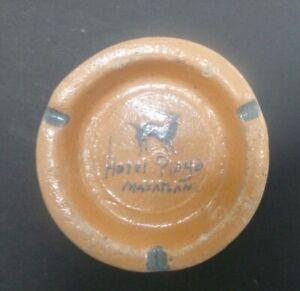 Vintage Ashtray Clay Pottery Hotel Playa Mazatlan Mexico Mid Century Retro Deer