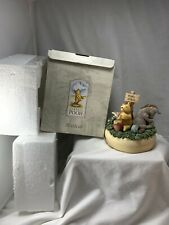 Winnie And Friends Pooh's Place Music Box Figurine Rumbly In My Tumbly In Box