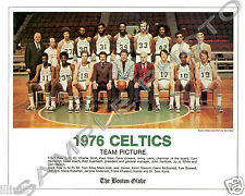 1976 BOSTON CELTICS NBA WORLD CHAMPIONS TEAM GLOSSY 8X10 PHOTO HOF