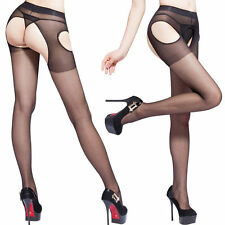 Sexy Women's Open Crotch Crotchless Sheer Pantyhose Tights Stockings Socks HOT