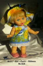 Sun Hat Dress Panties & Ribbons Fits Galoob Baby Face dolls (NO DOLL)See details