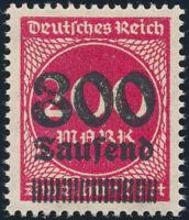 DR 1923, MiNr. 303 III, tadellos postfrisch, gepr. Infla, Mi. 80,-