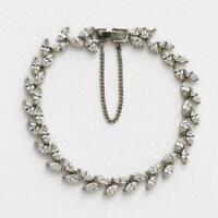 5Ct Marquise Cut Diamond 14K White Gold Finish 7.25'' Tennis Bracelet