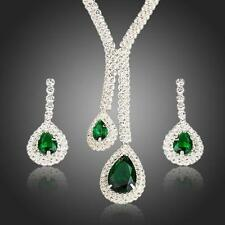White Gold Plated Top Quality Swiss Cubic Zirconia Bridal Set