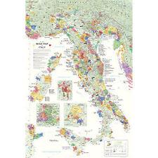 """De Long's Wine Map of Italy 24"""" x 36"""""""