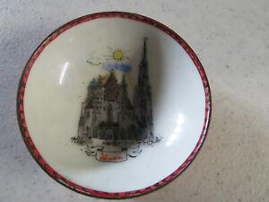 Vintage STEINBOCK Handmade In Austria Enamel Pin Trinket Small  Dish Bowl