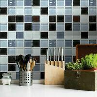 6pcs Mosaik 3D selbstklebende Badezimmer-Küche-Dekor-Wand-Fliesen-Aufkleber E4F2