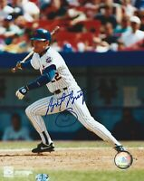 BRETT BUTLER NEW YORK METS SIGNED AUTOGRAPHED 8X10 PHOTO W/COA