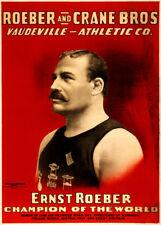 ERNEST ROEBER WORLD CHAMPION, 1898, 250gsm Boxing Vintage Sports Poster