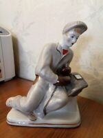 Soviet construction worker welder Ukrainian Russian porcelain figurine 517u