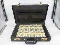Prop Money Filler Packs Money In A Attache Case $500K (50 Blocks)