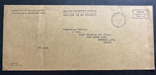 1963 Canadian Army PO 5051 In England Meter Cancel OHMS Cover To Montreal