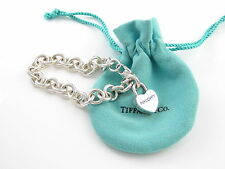 Tiffany & Co Silver Nice Naughty Charm Pendant Bracelet Bangle Cuff!