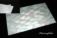 2 Sheets of Donkey Ear Shell Adhesive Veneer (Mother-of-Pearl Inlay Overlay)