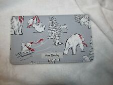 Nwt Vera Bradley Checkbook Cover in Beary Merry Winter P 00006000 olar Bear Cute!