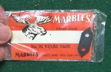 Marbles rear sight blank false base for Remington Model 8, 81