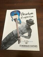 1997 VINTAGE 8X11 PRINT Ad THE FLEA BASS Guitar BY MODULUS RED HOT CHILI PEPPERS