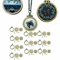 10PCS Mini Embroidery Hoop Ring Wooden Cross Stitch Frame For Hand Crafts DIY