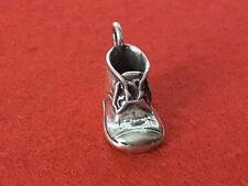 Sterling Silver 3D Shoe Charm Pendant Heels Sneakers Tennis Shoe Boot Boy **