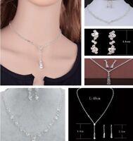 Jewelry Set Necklace Earring Pendant Sets Women Bridal Bridesmaid Wedding
