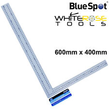 BlueSpot Carpenters Steel Framing Square 600mm x 400mm Rafters Metric Imperial